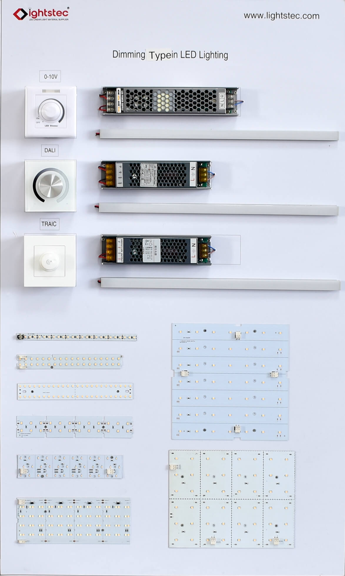 0-10v TRAIC DALI dimming led strip light