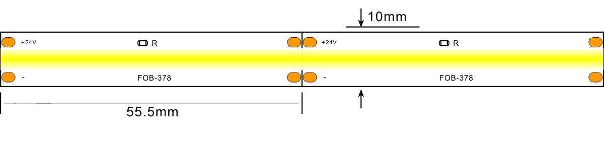 COB led strp light -lightstec 378-24v