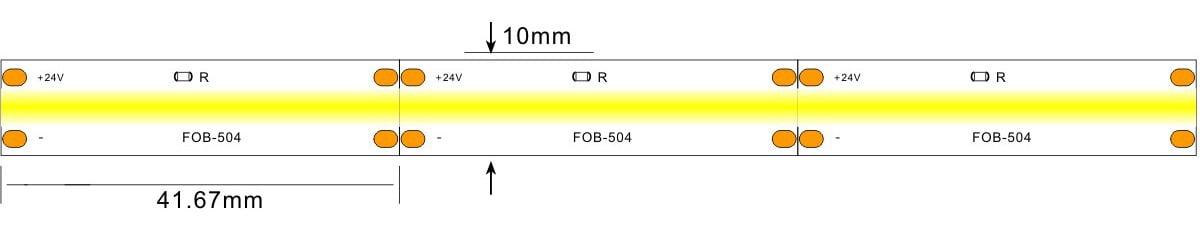 COB led strp light -lightstec 504-24v