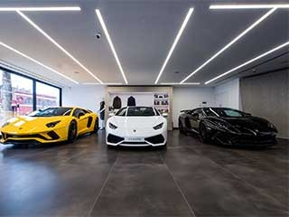 Lamborghini-showroom-led-linear-light