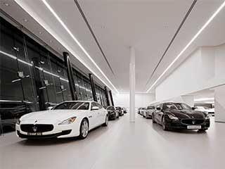 Maserati-showroom-led-linear-light