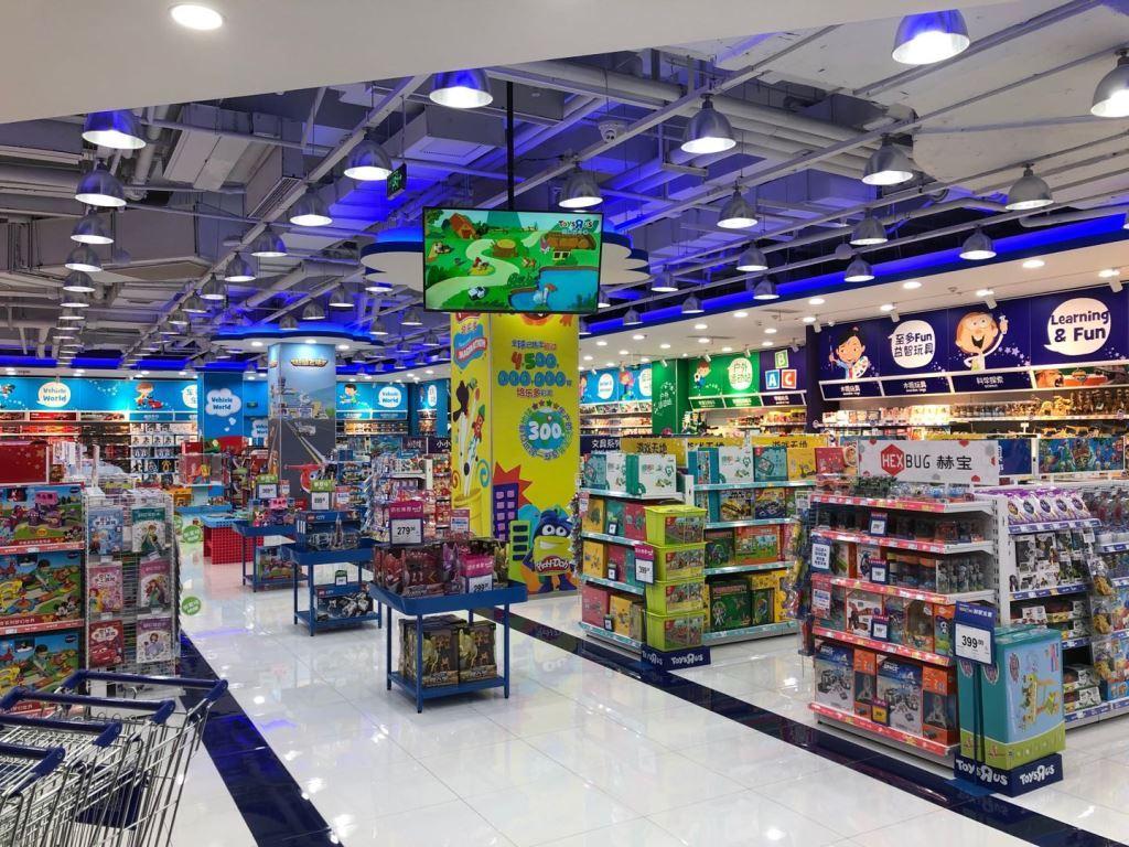 led strip light in toysrus store 1