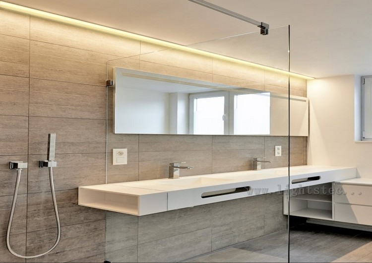 LED Light strips in Bathroom