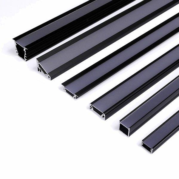 black led aluminum profile , black diffuser