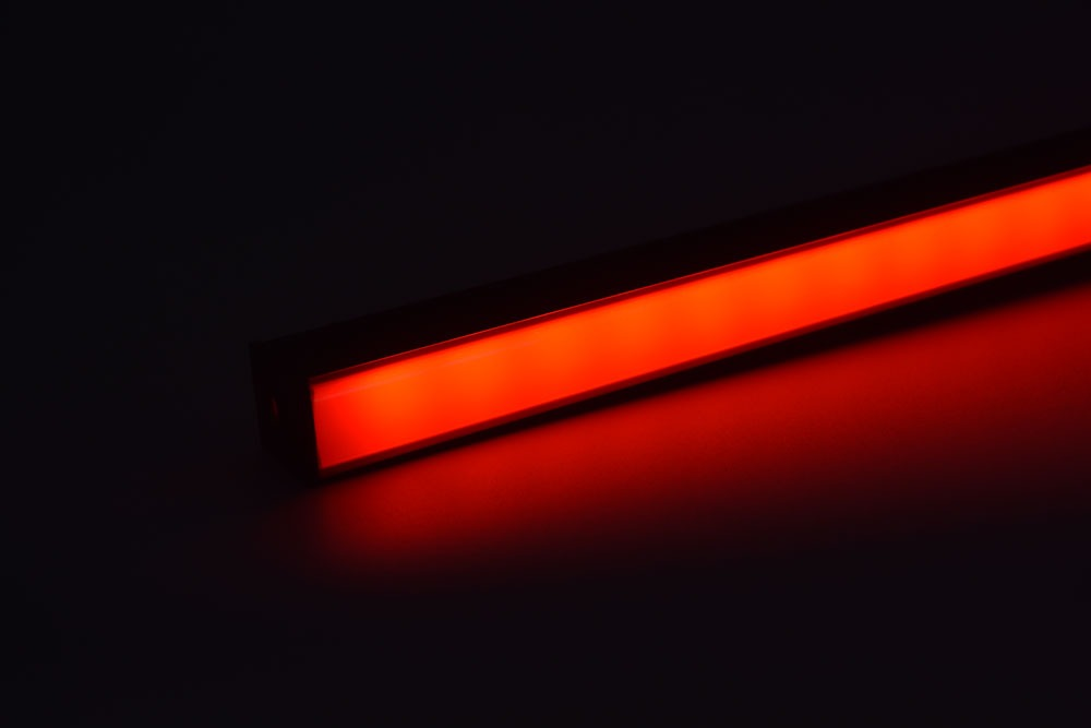 led aluminum profile with black diffuser red