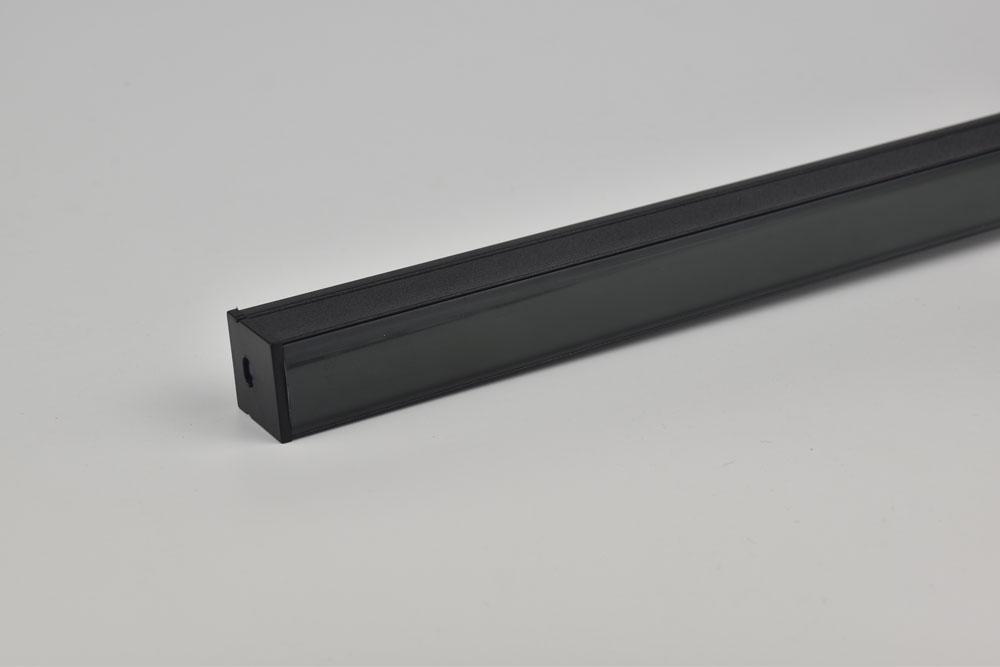 led aluminum profile with black diffuser shell