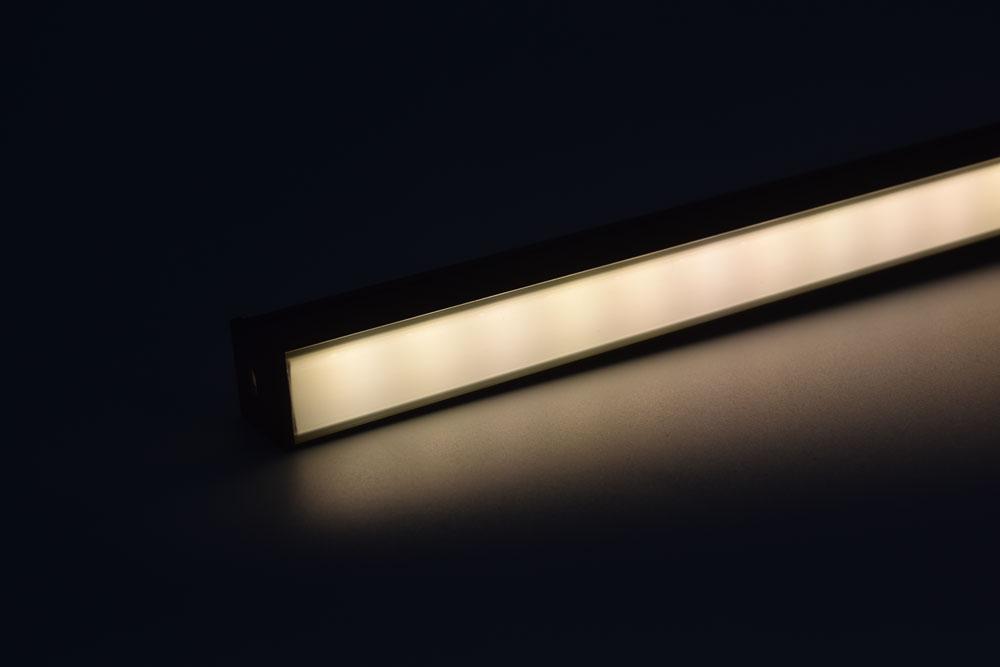 led aluminum profile with black diffuser white