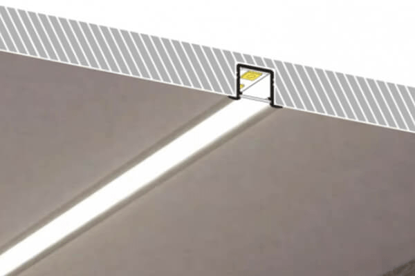 Recessed Mounted LED Profile