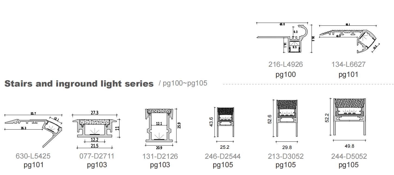 Stairs and inground light series